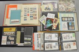 5 folders containing approx 200 First Day Covers and various stamps including loose examples.