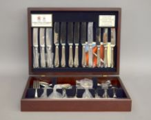 An Arthur Price canteen of stainless steel cutlery 'County Collection' (Unused - as new)