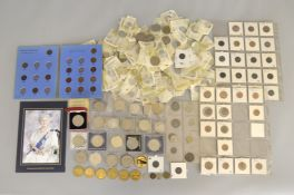 A large boxed quantity of predominately English antique/modern coins and commemorative's