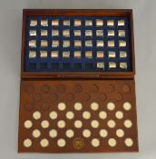 Thirty nine Danbury Mint uncirculated complete American presidential dollar rolls, each roll