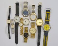 A boxed quantity of approx of eleven quartz wristwatches to include Rotary, Seconda, casio etc, most