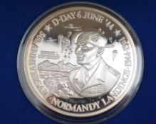 Westminster 100 Crowns silver coin, The World Of War Collection, Turks & Caicos Bernard L.