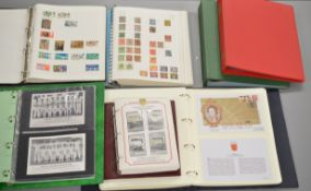 5 folders of stamps including a large amount of First Day Covers, taped Presentation Pack stamps,