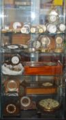 A watchmakers lifetime collection of watch parts, tools, cases, clocks, watches etc