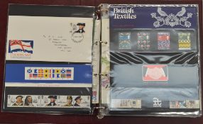 A folder of approx thirty four Royal Mail Presentation packs 1982-1986