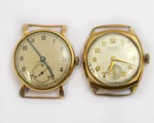 Two 9ct H/M mechanical wristwatches, both working