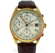 GIRARD PERREGAUX - A gents 18ct yellow gold Automatic Girard Perregaux Olimpico 4900 wristwatch,