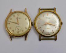Two mechanical watch heads, a 'Buren Grand Prix' & a 'MuDu', both working
