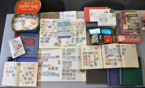 Quantity of vintage stamp albums containing British and World stamps together with various empty