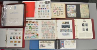 10 folders and albums containing various vintage British and World stamps including Stamp Sheets.