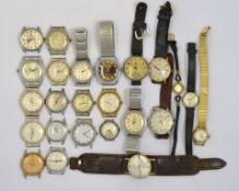 A boxed quantity of approx twenty four mechanical wristwatches to include Oris, Roamer's,