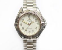 BREITLING - A gents Automatic stainless steel Breitling colt wristwatch, model A17035, approx