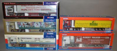 5 Corgi 1:50 scale die-cast truck models, which includes; Pentons Haulage, Robert Walker (Haulage
