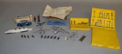 A boxed Dinky Toys #47 'Road Signs' set together with a #160 Royal Artillery Personnel set, both