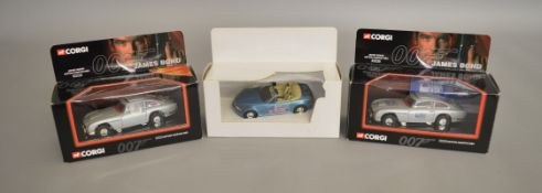 James Bond 007. 2 boxed versions of the Corgi 04303 Aston Martin DB5, one issued for 'Collect 99'