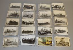 Approximately 560 unused vintage railway related postcards, some dating back to the 1920's, with