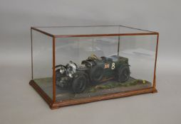 A well constructed kit built model of a 1930 'Blower' Bentley 4.5l Racing Car in 1:12 scale,