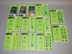 9 boxed vintage Subbuteo teams from the late 1960's/early 1970s, housed in two different styles of