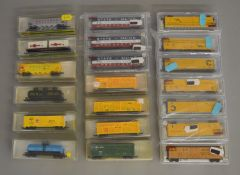 N Gauge. 10 boxed assorted items of Rolling STock by Model Power together with 10 box items by Atlas