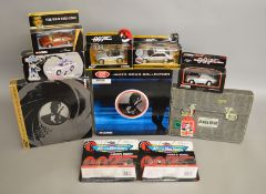 9 James Bond die-cast sets by Corgi and Micro Machines, which includes The Definitive Bond 4 piece