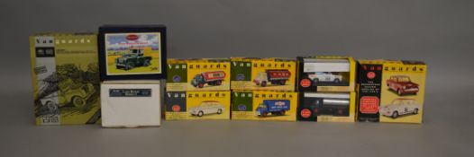 """8 boxed Vanguard die-cast models by Lledo along with a Britain's Land Rover Series 1 from the """""""