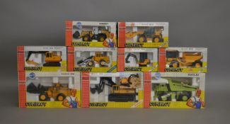 9 Joal Compact boxed die-cast models; which includes; JCB 712 Dump Truck, JCB 801 etc (9).