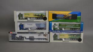 6 boxed die-cast truck models by Tekno, Universal Hobbies etc (6).