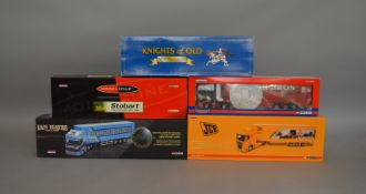 5 Corgi 1:50 scale die-cast truck models, which includes; JCB, Eddie Stobart etc which includes some