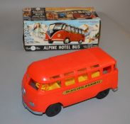 An exceptionally rare vintage boxed Tudor Rose Volkswagen Alpine Hotel Bus, seldom seen in such good