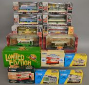 14 Corgi Tram die-cast models which are all boxed (14).