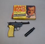 James Bond 007. A boxed Lone Star '100 Shot Repeater' diecast metal and plastic cap firing pistol