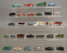 26 unboxed play worn diecast models by Corgi, Lesney and others, with repainting to some,