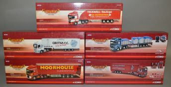 5 Corgi 1:50 scale die-cast truck models, which includes; William Armstrong /Gretna FC, Tom