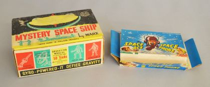 A boxed Marx 'Mystery Space Ship' Gyroscopic toy, unchecked for completeness otherwise appears G