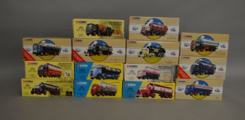 """14 Corgi die-cast tanker models from the ranges """"The Brewery Collection"""" """"Corgi"""" Classics"""" etc ("""