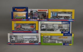 6 Corgi 1:50 scale die-cast truck models, which includes; Truckfest, Rigid Tippers etc along with