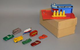 A most unusual plastic copy of the Matchbox MG1 Service Station and Showroom, manufacturer unknown