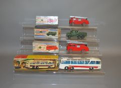 4 boxed Dinky Toys including 2 x 955 Fire Engine both of which appear F/G although one does have a