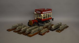 A unboxed large scale metal model of a London General Bus, approximately 40cm long and appears