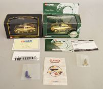 James Bond 007 2 boxed Corgi  Aston Martin DB5 models with gold coloured plated finish, 96656