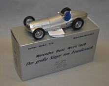 A boxed CMC #2102 1938 Mercedes Benz W154 diecast model car in 1:18 scale, appears VG/E boxed.