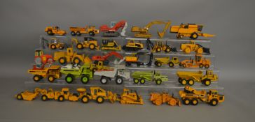 30 unboxed construction and agricultural related die-cast models by NZG, Conrad, Joal etc