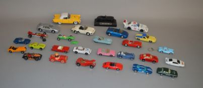 27 assorted unboxed playworn diecast model cars by Corgi, Matchbox, Dinky and others and includes