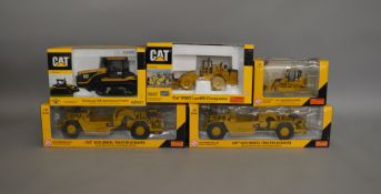 5 Caterpillar die-cast scale boxed models by Norscot, including;Track Loader, Landfill Compactor etc