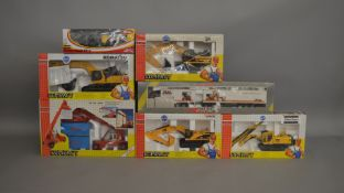 7 boxed construction related die-cast models by Joal (7)