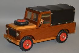Land Rover V8 wooden model, this item was built by an ex Land Rover Employee for a competition (1).