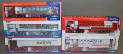 5 Corgi 1:50 scale die-cast truck models, which includes; Baggeridge, Edward Gilder etc which are