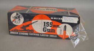 A boxed Britains 9745 155mm Gun, appears VG in VG box.