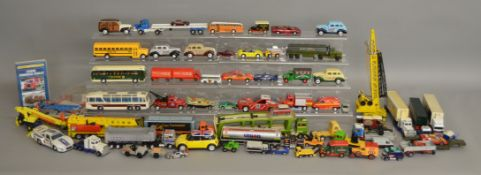 Over 60 unboxed diecast models by Siku, Bburago, Corgi, Matchbox and others, including a Scammell