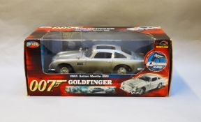 James Bond 007. A boxed Joyride 1:18 scale Aston Martin DB5, issued in 2004, modelled on the vehicle